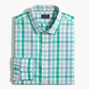 J. Crew Slim Flex Wrinkle Free Plaid Shirt